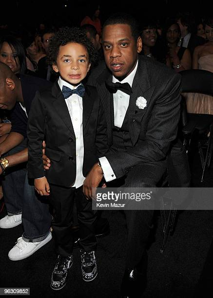 Jules and JayZ attends the 52nd Annual GRAMMY Awards held at Staples Center on January 31 2010 in Los Angeles California