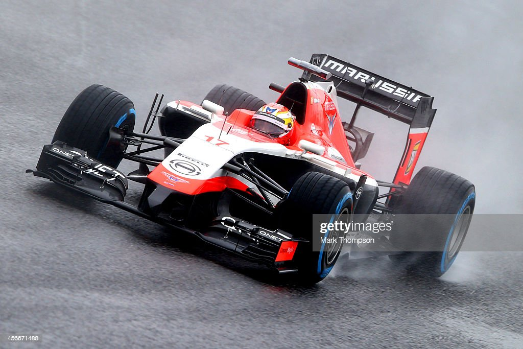 Jules Bianchi of France and Marussia drives during the Japanese Formula One Grand Prix at Suzuka Circuit on October 5 2014 in Suzuka Japan