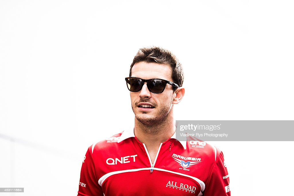 Jules Bianchi of France and Marussia looks on prior to the Hungarian Formula One Grand Prix at Hungaroring on July 27, 2014 in Budapest, Hungary.