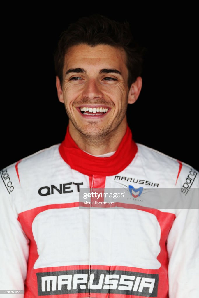 <a gi-track='captionPersonalityLinkClicked' href=/galleries/search?phrase=Jules+Bianchi&family=editorial&specificpeople=3942007 ng-click='$event.stopPropagation()'>Jules Bianchi</a> of France and Marussia poses for a photograph during day two of Formula One Winter Testing at the Bahrain International Circuit on February 28, 2014 in Bahrain, Bahrain.