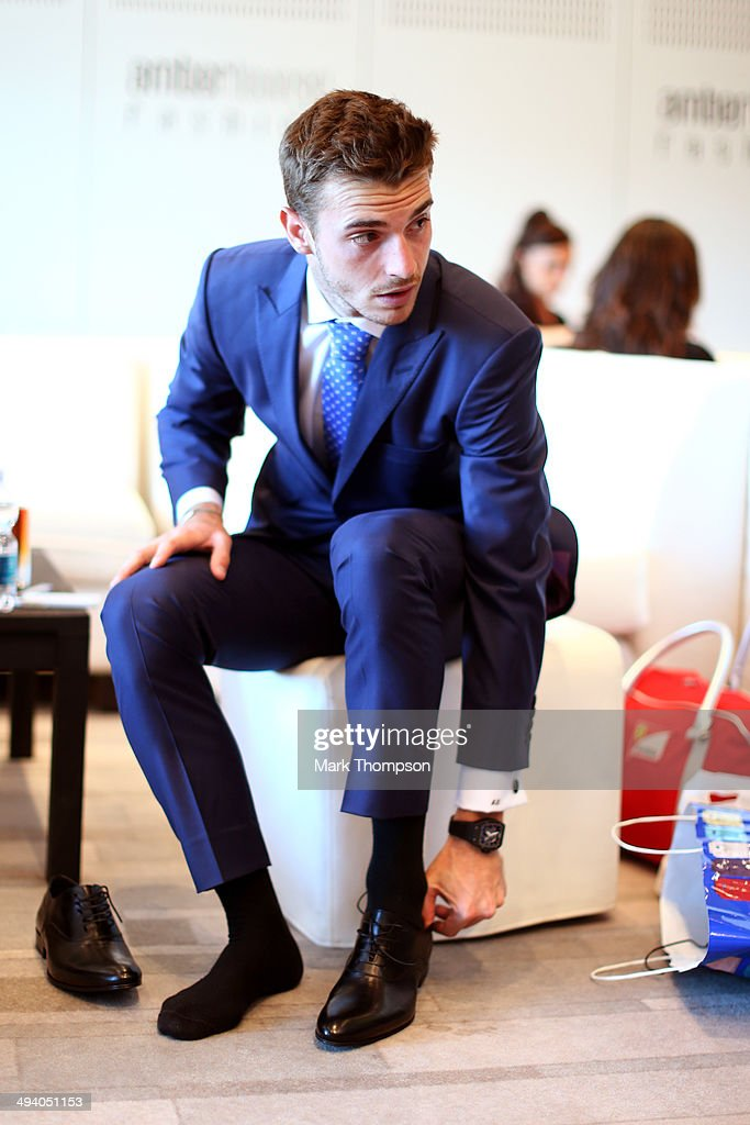 <a gi-track='captionPersonalityLinkClicked' href=/galleries/search?phrase=Jules+Bianchi&family=editorial&specificpeople=3942007 ng-click='$event.stopPropagation()'>Jules Bianchi</a> of France and Marussia prepares to take part in the Amber Lounge Fashion Show ahead of the Monaco Formula One Grand Prix at Circuit de Monaco on May 23, 2014 in Monte-Carlo, Monaco.