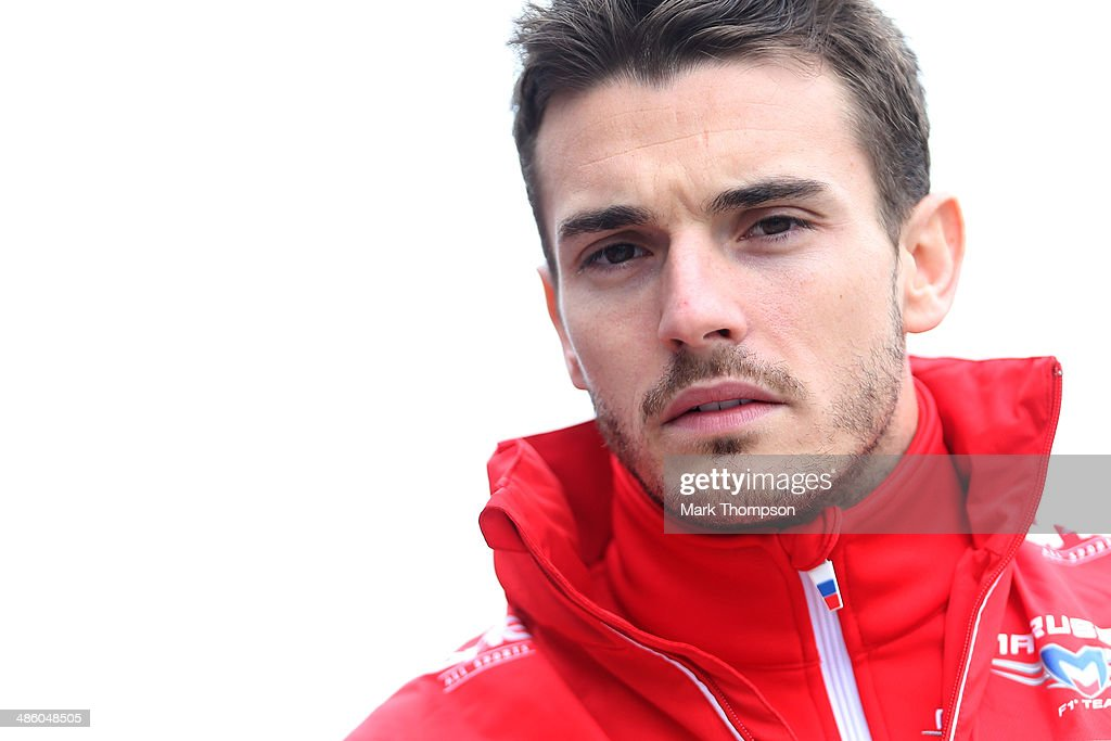 <a gi-track='captionPersonalityLinkClicked' href=/galleries/search?phrase=Jules+Bianchi&family=editorial&specificpeople=3942007 ng-click='$event.stopPropagation()'>Jules Bianchi</a> of France and Marussia walks across the paddock prior to the Chinese Formula One Grand Prix at the Shanghai International Circuit on April 20, 2014 in Shanghai, China.