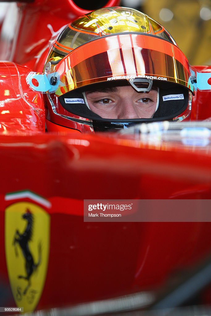 <a gi-track='captionPersonalityLinkClicked' href=/galleries/search?phrase=Jules+Bianchi&family=editorial&specificpeople=3942007 ng-click='$event.stopPropagation()'>Jules Bianchi</a> of France and team Ferrari in action at the Circuito De Jerez on December 1, 2009 in Jerez de la Frontera, Spain.