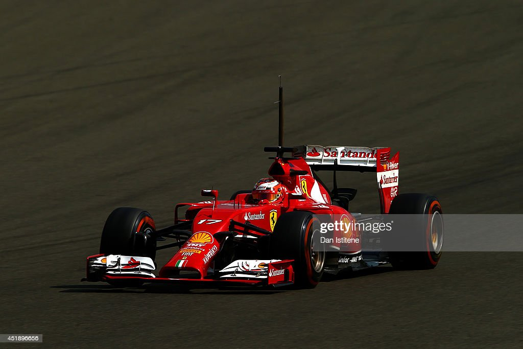 Jules Bianchi of France drives a Ferrari during day two of testing at Silverstone Circuit on July 9, 2014 in Northampton, England.