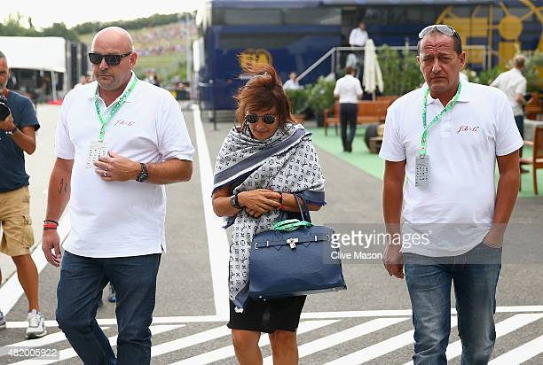 Jules Bianchi's father Philippe Bianchi and mother Christine Bianchi walk in the paddock before the Formula One Grand Prix of Hungary at Hungaroring...