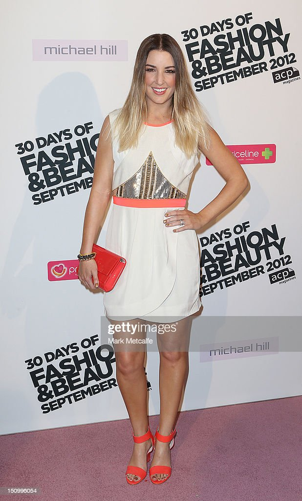 Jules Egan poses during the 30 Days of Fashion & Beauty Launch at Sydney Town Hall on August 30, 2012 in Sydney, Australia.