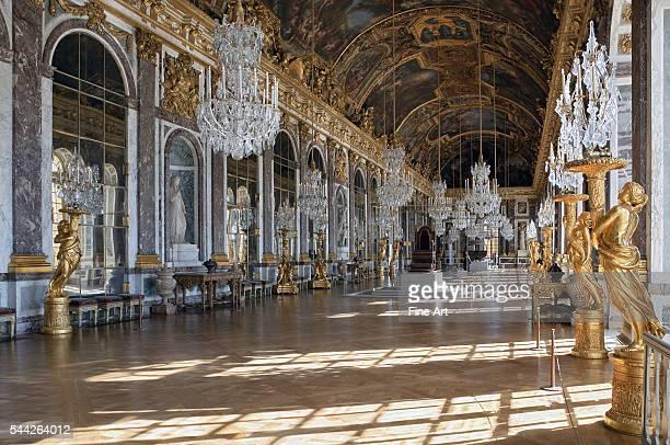 Jules HardouinMansart Grande Galerie or Galerie des Glaces Palace of Versailles third building campaign of the Palace of Versailles under King Louis...