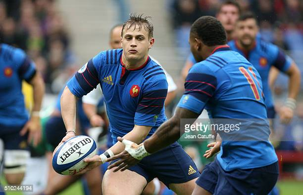 Jules Plisson of France in action during the RBS 6 Nations match between France and Ireland at Stade de France on February 13 2016 in SaintDenis...
