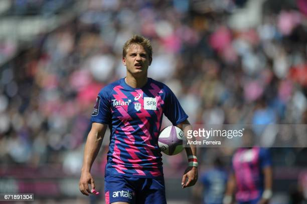 Jules Plisson of Stade Francais during the European Challenge Cup semi final between Stade Francais and Bath on April 23 2017 in Paris France