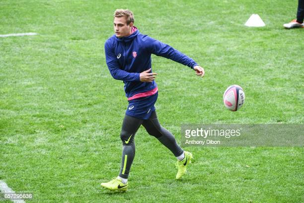 Jules Plisson of Stade Francais during the training session of the Stade Francais at Stade Jean Bouin on March 24 2017 in Paris France