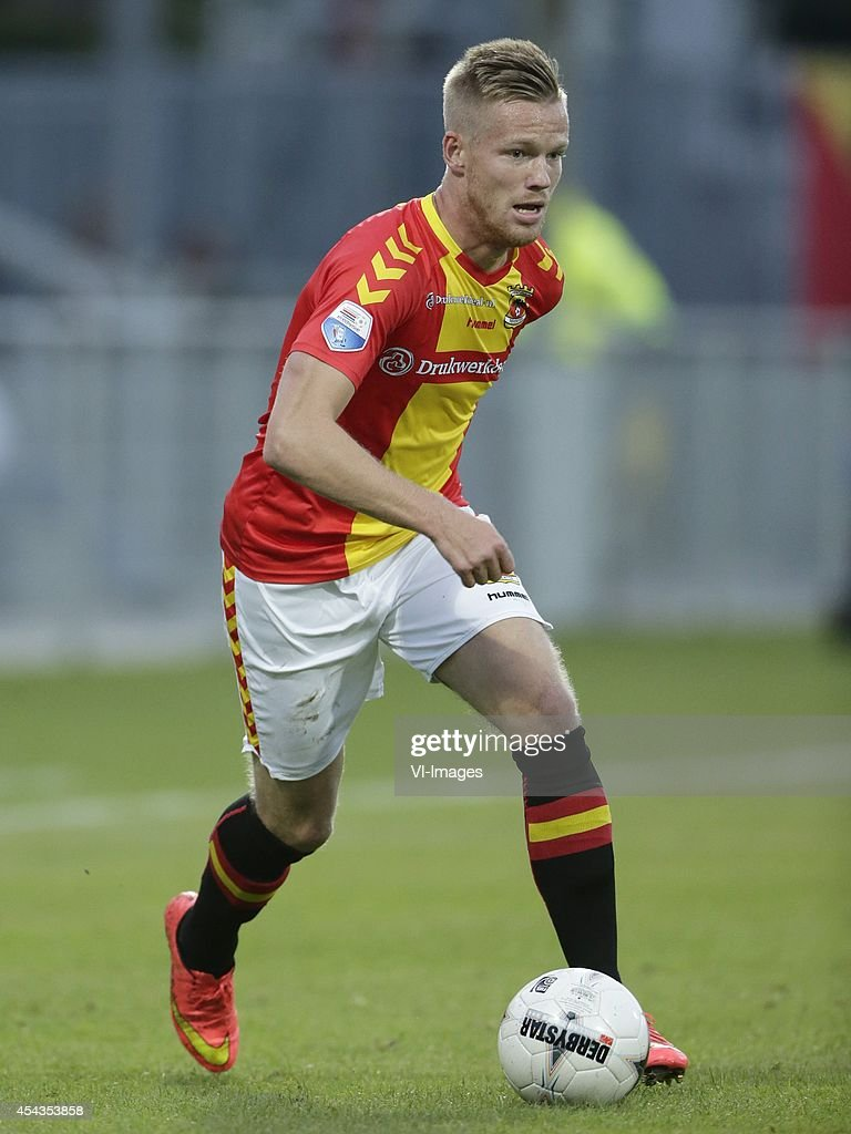 Jules Reimerink of Go Ahead Eagles during the dutch eredivisie match between Go Ahead Eagles and Willem II at the Adelaarshorst on august 29 2014 in...