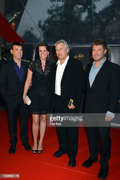 Jules Vernes Awards Organizer Frederic Dieudonne Amanda Tapping Richard Dean Anderson and Jules Vernes Awards Organizer JeanChristophe Jeauffre...