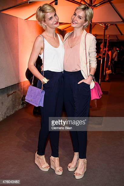 Julia and Nina Meise attend the Sky Champions Night at The Grand on June 5 2015 in Berlin Germany