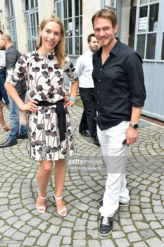 Julia Anna Dietze and Thure Riefenstein attend the FFF reception during the Munich Film Festival 2016 at Praterinsel on June 30, 2016 in Munich, Germany.