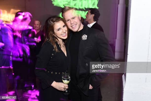 Julia Arazi and Andrew Werner attend the Eklund|Gomes 10 Year Anniversary Bash at The Garage in NYC on February 2 2017 in New York City