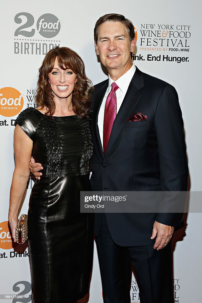 Julia Baker and Ken Lowe attend Food Networks 20th birthday celebration at Pier 92 on October 17, 2013 in New York City.