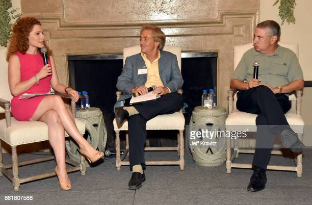 Julia Boorstin Jim Steyer and Thomas L Friedman at an Evening With Thomas L Friedman and Common Sense Media on October 15 2017 at the Bel Air Bay...