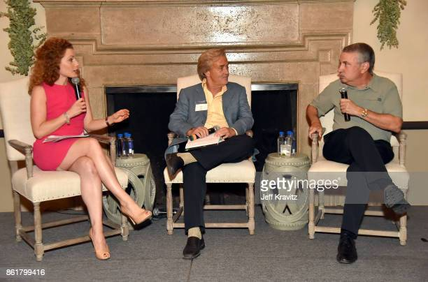 Julia BoorstinJim SteyerThomas L Friedman at an Evening With Thomas L Friedman and Common Sense Media on October 15 2017 at the Bel Air Bay Club in...