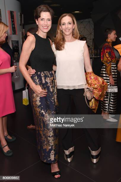 Julia Bremermann and Kristin Meyer are seen during the Marcell von Berlin 'Genesis' collection presentation on July 3 2017 in Berlin Germany
