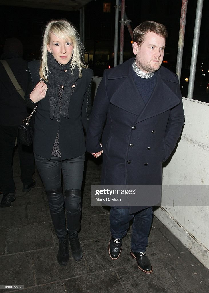 Julia Carey and James Corden at the Little House Mayfair on January 25, 2013 in London, England.