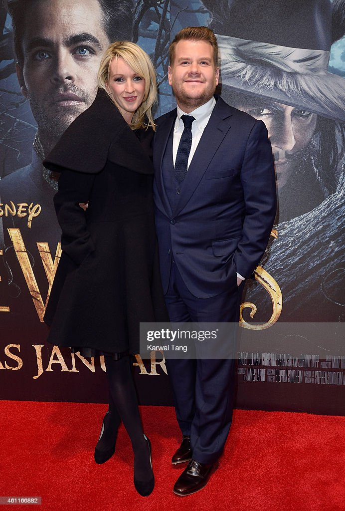 Julia Carey and James Corden attend the gala screening of 'Into The Woods' at The Curzon Mayfair on January 7, 2015 in London, England.