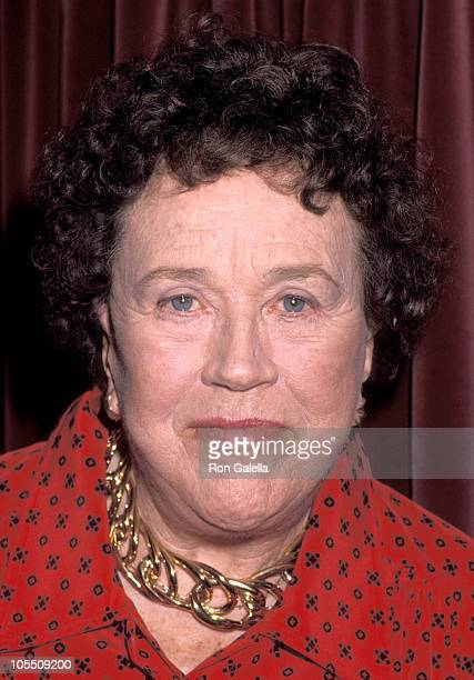 Julia Child during James Beard Foundation Dinner Honoring Julia Child at Jane's Bar And Grill in New York City New York United States
