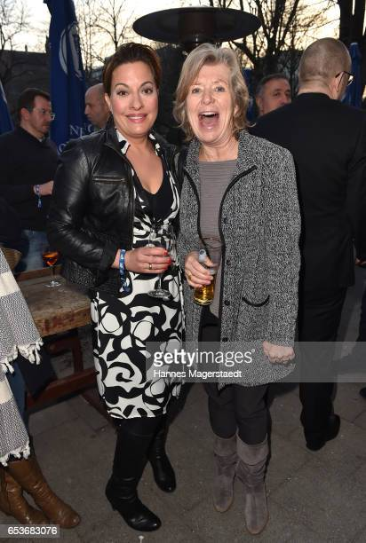 Julia Dahmen and Jutta Speidel during the NdF after work press cocktail at Parkcafe on March 15 2017 in Munich Germany