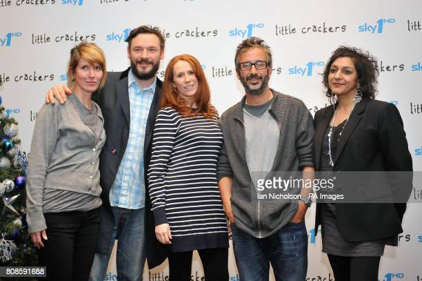 Julia Davis Julian Barrett Catherine Tate David Baddiel and Meera Syal some of the stars of Sky 1's new comedy series Little Crackers attend a...