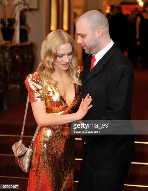 Julia Dietze and Alexander Meyerhof attend the Gala Spa Awards at Brenner's Park Hotel on March 20 2010 in Baden Baden Germany