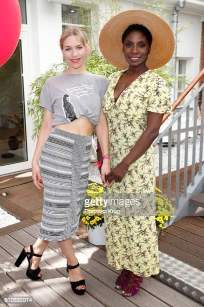 Julia Dietze and Nikeata Thompson attend the Gala Fashion Brunch during the MercedesBenz Fashion Week Berlin Spring/Summer 2018 at Ellington Hotel on...