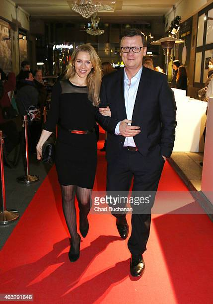 Julia Dietze and Torsten Koch attend the 99Fire Film Awards during the 65th Berlinale International Film Festival at Admiralspalast on February 12...