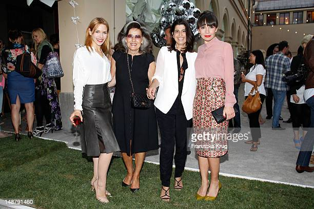 Julia Dietze Angelica Blechschmidt Dorothee Schumacher and Nadine Warmuth attend the Schumacher Store Opening on July 19 2012 in Munich Germany