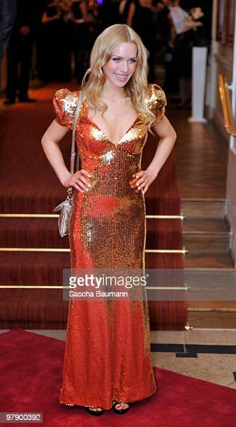 Julia Dietze attend the Gala Spa Award at Brenner's Park Hotel on March 20 2010 in Baden Baden Germany