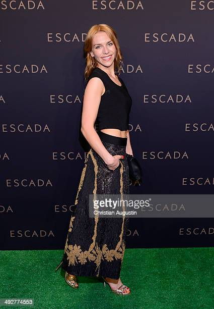 Julia Dietze attends Escada Flagshipstore Opening at Kaisergalerie on May 21 2014 in Hamburg Germany