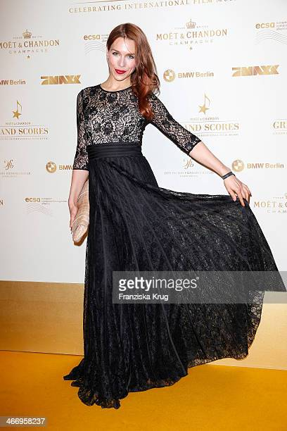 Julia Dietze attends Moet Chandon Grand Scores at Kaufhaus Jandorf on February 05 2014 in Berlin Germany