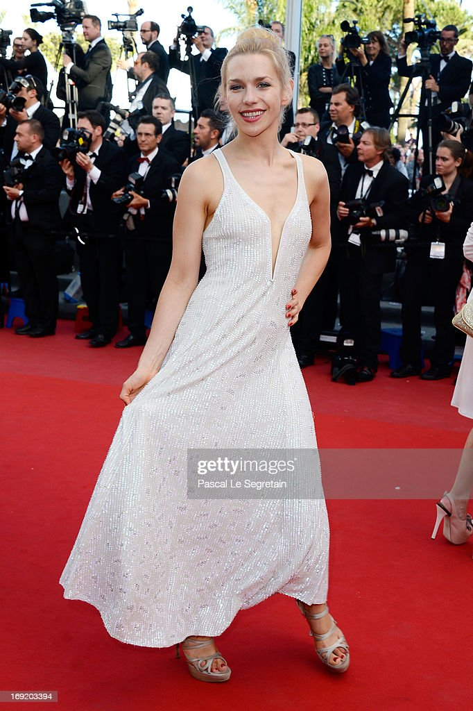 Julia Dietze attends the 'Cleopatra' premiere during The 66th Annual Cannes Film Festival at The 60th Anniversary Theatre on May 21, 2013 in Cannes, France.