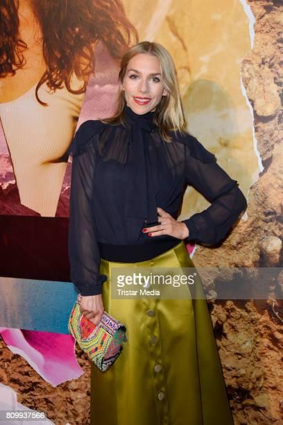 Julia Dietze attends the Dorothee Schumacher Show during the MercedesBenz Fashion Week Berlin Spring/Summer 2018 at Kaufhaus Jandorf on July 7 2017...