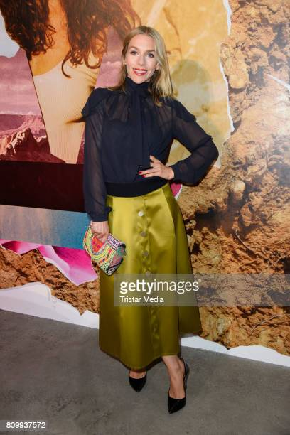 Julia Dietze attends the Dorothee Schumacher Show during the MercedesBenz Fashion Week Berlin Spring/Summer 2018 at Kaufhaus Jandorf on July 7 2017...