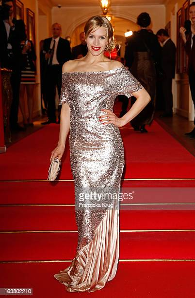 Julia Dietze attends the Gala Spa Awards 2013 at the Brenners Park Hotel on March 16 2013 in Berlin Germany