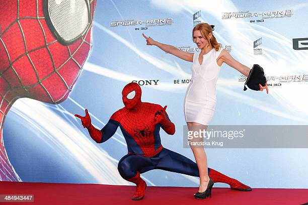 Julia Dietze attends the 'The Amazing SpiderMan 2 Rise Of Electro' Berlin Premiere at Sony Center on April 15 2014 in Berlin Germany