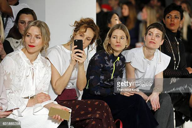 Julia Dietze Chiara Schoras Aino Laberenz Jasmin Gerat and Dennenesch Zoude attend the Dorothee Schumacher show during the MercedesBenz Fashion Week...
