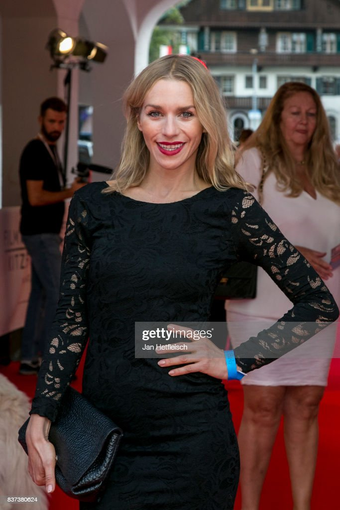Julia Dietze poses for a picture the 'Inconvenient Sequel' premiere and opening night of the Kitzbuehel Film Festival 2017 (Kitzbuehel Filmfest) at Filmtheater Kitzbuehel on August 22, 2017 in Kitzbuehel, Austria.