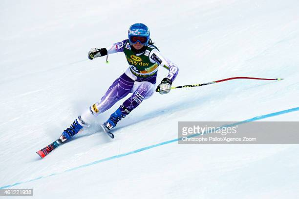 Julia Ford of the USA competes during the Audi FIS Alpine Ski World Cup Women's Downhill Training on January 09 2015 in Bad Kleinkirchheim Austria