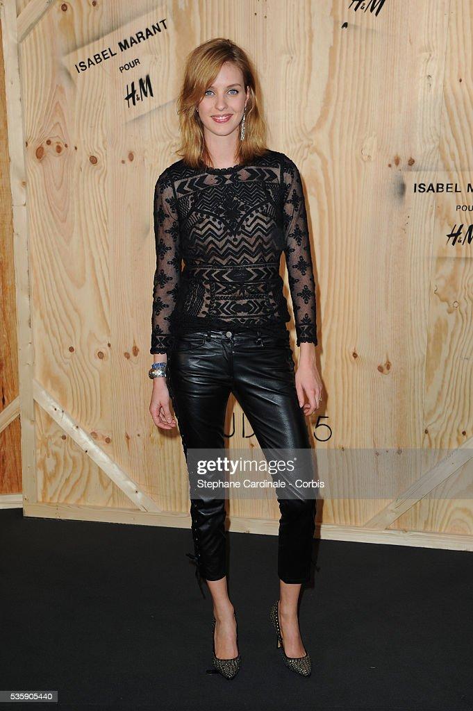 Julia Frauche attends the 'Isabel Marant For H&M' Photocall at Tennis Club De Paris, in Paris.