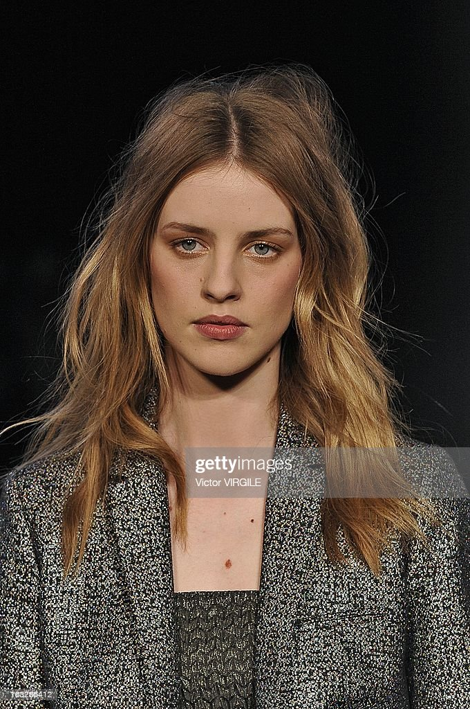 Julia Frauche walks the runway during the Zadig & Voltaire Fall/Winter 2013 Ready-to-Wear show as part of Paris Fashion Week at Hotel Westin on March 5, 2013 in Paris, France.