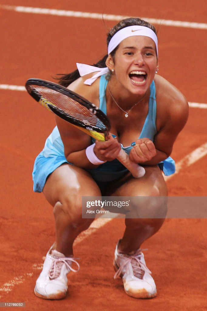 <a gi-track='captionPersonalityLinkClicked' href=/galleries/search?phrase=Julia+Goerges&family=editorial&specificpeople=4474037 ng-click='$event.stopPropagation()'>Julia Goerges</a> of Germany celebrates after winning her Quarter Final match against Sabine Lisicki of Germany at the Porsche Tennis Grand Prix at Porsche Arena on April 21, 2011 in Stuttgart, Germany.