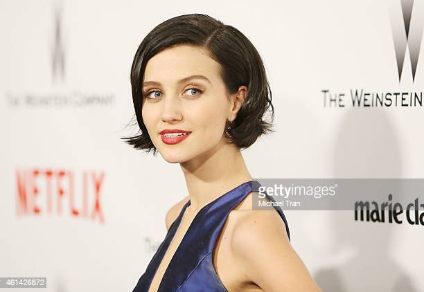 Julia Goldani Telles arrives at The Weinstein Company and Netflix Golden Globes afterparty held on January 11 2015 in Beverly Hills California