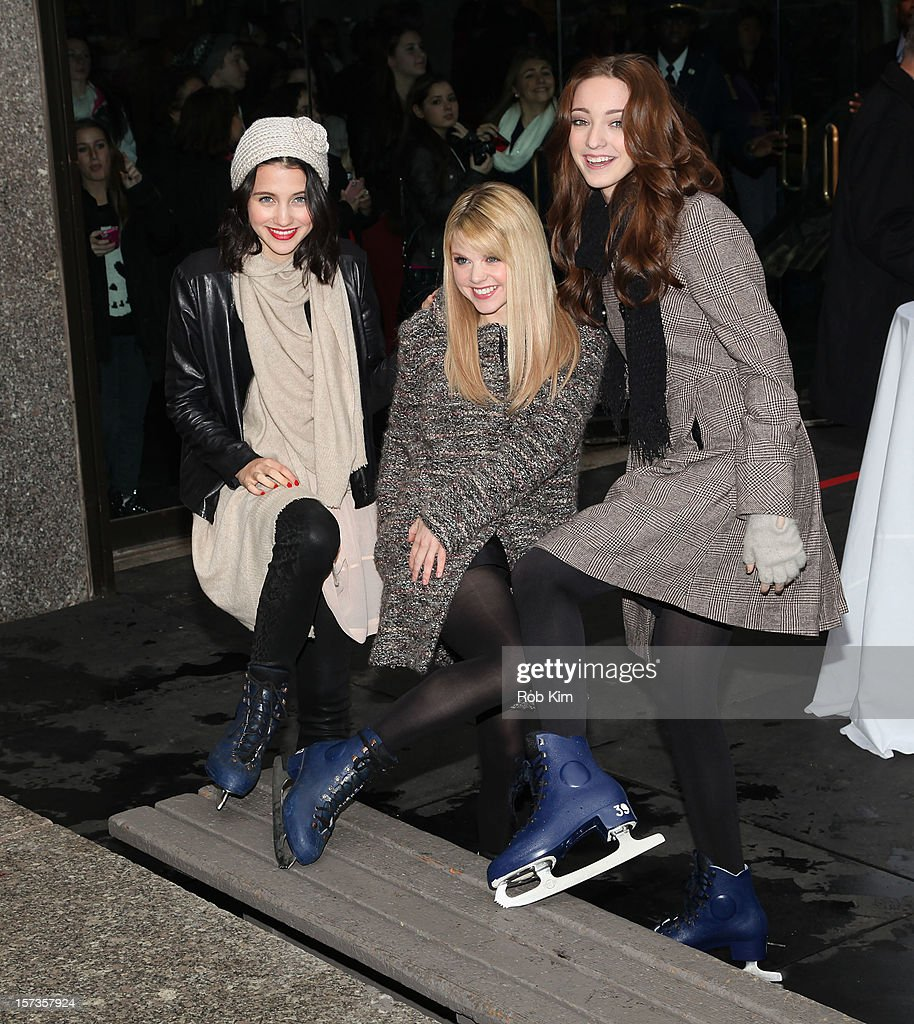 Julia Goldani Telles, Bailey Buntain and Emma Dumont of Bunheads attend ABC Family's '25 Days Of Christmas' Winter Wonderland event at Rockefeller Center on December 2, 2012 in New York City.