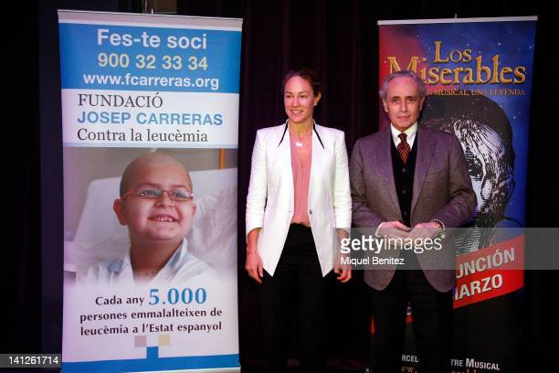 Julia Gomez Cora and Josep Carreras attend the charity theater performance 'Los Miserables' on March 13 2012 in Barcelona Spain