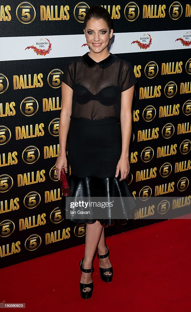 Julia Gonzalo attends the Channel 5 Dallas Launch Party at Old Billingsgate Market on August 21 2012 in London England